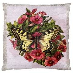 Vintage Butterfly Flower Standard Flano Cushion Case (one Side)