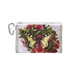 Vintage Butterfly Flower Canvas Cosmetic Bag (s)