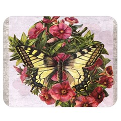 Vintage Butterfly Flower Double Sided Flano Blanket (medium)