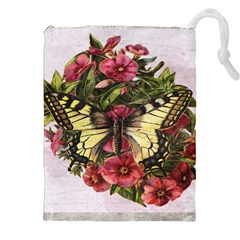 Vintage Butterfly Flower Drawstring Pouches (xxl)