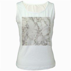 Marble Background Backdrop Women s White Tank Top