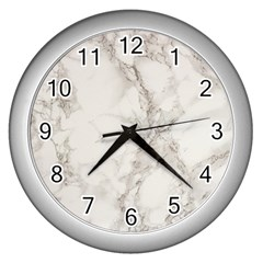 Marble Background Backdrop Wall Clocks (silver)