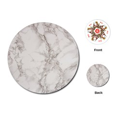 Marble Background Backdrop Playing Cards (round)