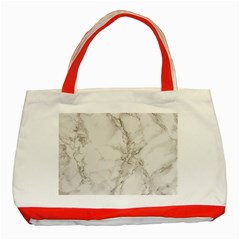 Marble Background Backdrop Classic Tote Bag (red)