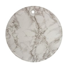 Marble Background Backdrop Round Ornament (two Sides)