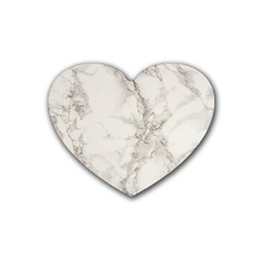 Marble Background Backdrop Heart Coaster (4 Pack)