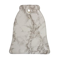 Marble Background Backdrop Bell Ornament (two Sides)