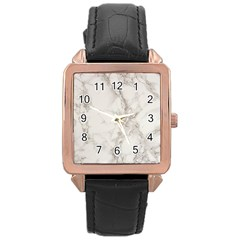 Marble Background Backdrop Rose Gold Leather Watch