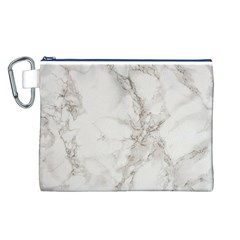 Marble Background Backdrop Canvas Cosmetic Bag (l)