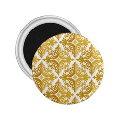 Gold Pattern Wallpaper Fleur 2 25  Magnets