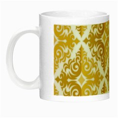 Gold Pattern Wallpaper Fleur Night Luminous Mugs