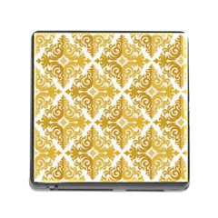 Gold Pattern Wallpaper Fleur Memory Card Reader (square)