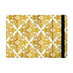 Gold Pattern Wallpaper Fleur Apple Ipad Mini Flip Case