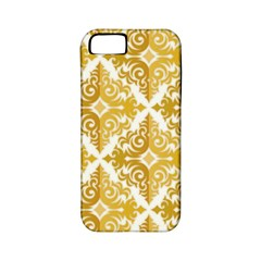 Gold Pattern Wallpaper Fleur Apple Iphone 5 Classic Hardshell Case (pc+silicone)