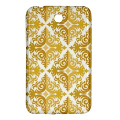 Gold Pattern Wallpaper Fleur Samsung Galaxy Tab 3 (7 ) P3200 Hardshell Case