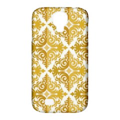 Gold Pattern Wallpaper Fleur Samsung Galaxy S4 Classic Hardshell Case (pc+silicone)