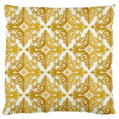 Gold Pattern Wallpaper Fleur Large Flano Cushion Case (two Sides)