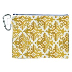 Gold Pattern Wallpaper Fleur Canvas Cosmetic Bag (xxl)