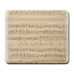 Vintage Beige Music Notes Large Mousepads