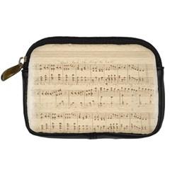 Vintage Beige Music Notes Digital Camera Cases