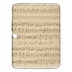 Vintage Beige Music Notes Samsung Galaxy Tab 3 (10 1 ) P5200 Hardshell Case