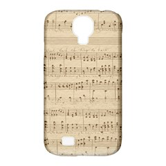 Vintage Beige Music Notes Samsung Galaxy S4 Classic Hardshell Case (pc+silicone)