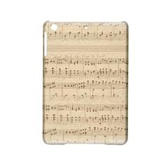 Vintage Beige Music Notes Ipad Mini 2 Hardshell Cases