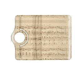 Vintage Beige Music Notes Kindle Fire Hd (2013) Flip 360 Case
