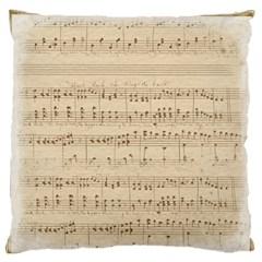 Vintage Beige Music Notes Large Flano Cushion Case (one Side)