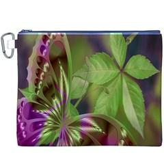 Arrangement Butterfly Aesthetics Canvas Cosmetic Bag (xxxl)