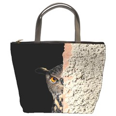 Owl Hiding Peeking Peeping Peek Bucket Bags