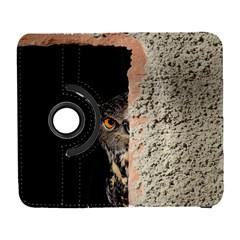 Owl Hiding Peeking Peeping Peek Galaxy S3 (flip/folio)