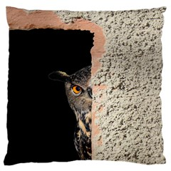 Owl Hiding Peeking Peeping Peek Standard Flano Cushion Case (one Side)