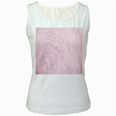 Marble Background Texture Pink Women s White Tank Top