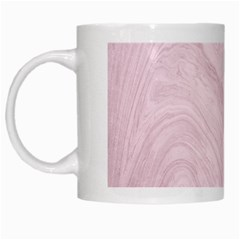 Marble Background Texture Pink White Mugs