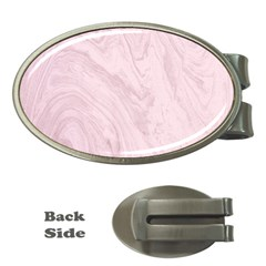 Marble Background Texture Pink Money Clips (oval)