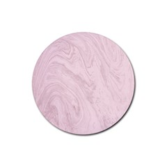 Marble Background Texture Pink Rubber Round Coaster (4 Pack)