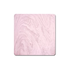 Marble Background Texture Pink Square Magnet