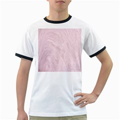 Marble Background Texture Pink Ringer T Shirts