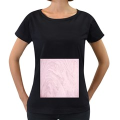 Marble Background Texture Pink Women s Loose Fit T Shirt (black)