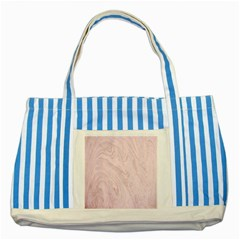 Marble Background Texture Pink Striped Blue Tote Bag