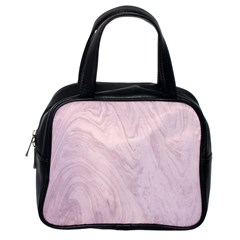 Marble Background Texture Pink Classic Handbags (one Side)
