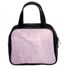 Marble Background Texture Pink Classic Handbags (2 Sides)