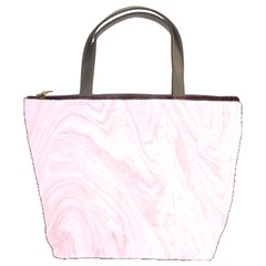 Marble Background Texture Pink Bucket Bags