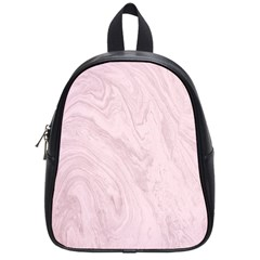 Marble Background Texture Pink School Bag (small)