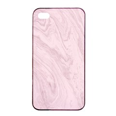 Marble Background Texture Pink Apple Iphone 4/4s Seamless Case (black)