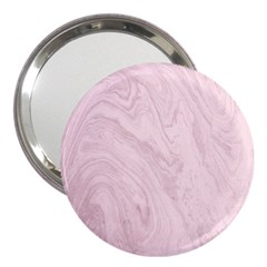 Marble Background Texture Pink 3  Handbag Mirrors