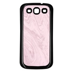 Marble Background Texture Pink Samsung Galaxy S3 Back Case (black)