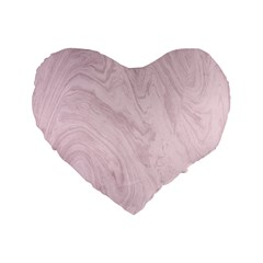 Marble Background Texture Pink Standard 16  Premium Flano Heart Shape Cushions