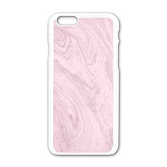 Marble Background Texture Pink Apple Iphone 6/6s White Enamel Case